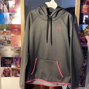 grey under armor hoodie size women's medium